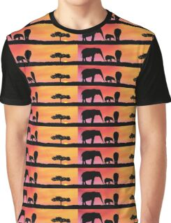 Elephants silhouettes Graphic T-Shirt