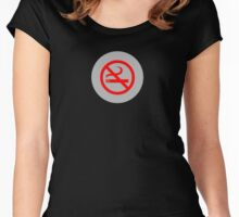 No Smoking T-Shirt ~ Stay Healthy Top ~ Phone Cover ~ Card Quit Sign Women's Fitted Scoop T-Shirt