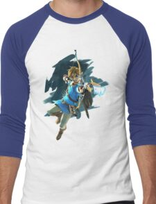 Link - Zelda Wii U / Switch Breath of the Wild Men's Baseball ¾ T-Shirt