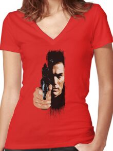 Clint Eastwood - Tightrope Women's Fitted V-Neck T-Shirt