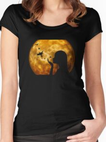 Moon-Woman Women's Fitted Scoop T-Shirt