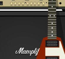 Mamplifier and Flying V Sticker