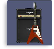 Mamplifier and Flying V Canvas Print