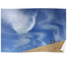 Sky and sand dune - Fraser Island 2011 Poster