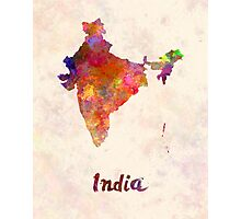 India  in watercolor Photographic Print