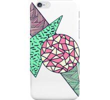 Hand Drawn Pink Teal Black White Geometric Shapes iPhone Case/Skin