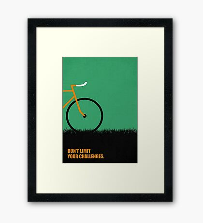Dont Limit Your Challenges Corporate Start-up Quotes Framed Print