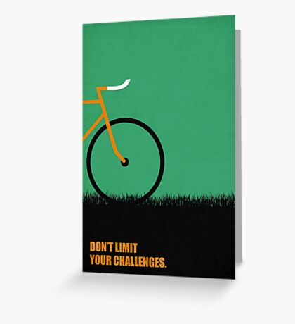 Dont Limit Your Challenges Corporate Start-up Quotes Greeting Card