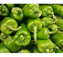 Green chillies Photographic Print