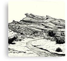 Desert Landscape 02 Canvas Print