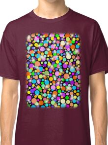 Polka Dots Psychedelic Colors Classic T-Shirt