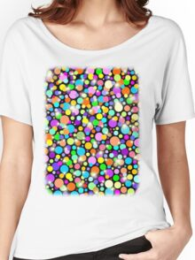 Polka Dots Psychedelic Colors Women's Relaxed Fit T-Shirt