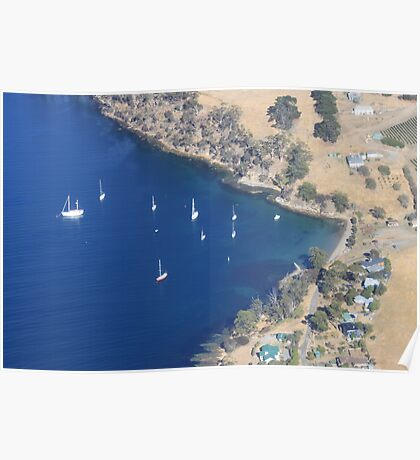 Blue water harbour Poster