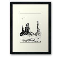 Desert Landscape 03 Framed Print