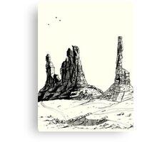 Desert Landscape 03 Canvas Print