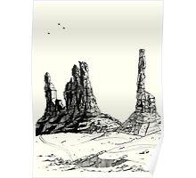 Desert Landscape 03 Poster