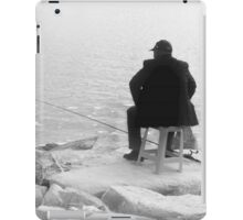 Patience And Hope Fisherman Silhouette iPad Case/Skin