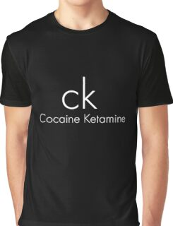 Cocaine Ketamine CK Graphic T-Shirt