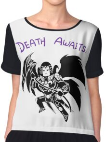 Smite - Death Awaits (Chibi) Chiffon Top