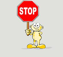 Cartoon with stop sign Unisex T-Shirt