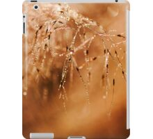 Abstract Grass Water Drop Droplet Nature Brown Earth Tones iPad Case/Skin