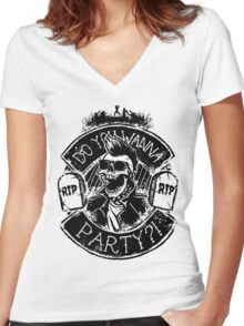 It's Party Time! Women's Fitted V-Neck T-Shirt