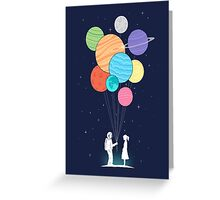 out of space love Greeting Card