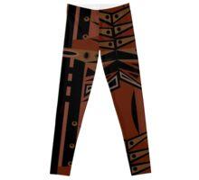 Ediemagic Brown & Black Leggings