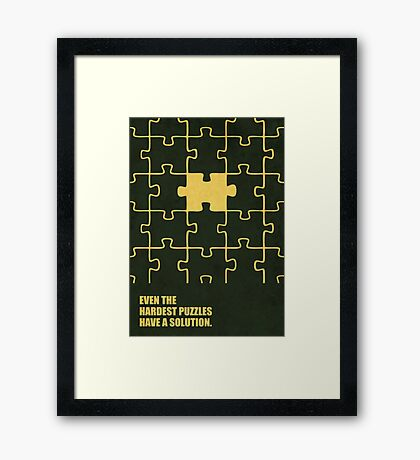Even The Hardest Puzzles Have A Solution - Corporate Start-Up Quotes Framed Print