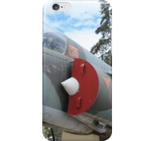 Military Jet on Display iPhone Case/Skin