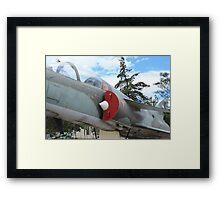 Military Jet on Display Framed Print