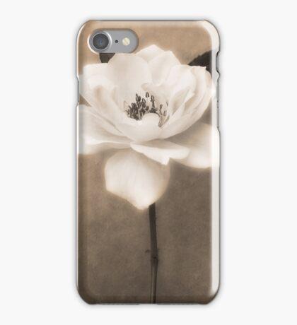 Sepia White Garden Rose Flower Floral Fine Art iPhone Case/Skin