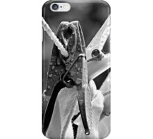 Pegs On The Line iPhone Case/Skin