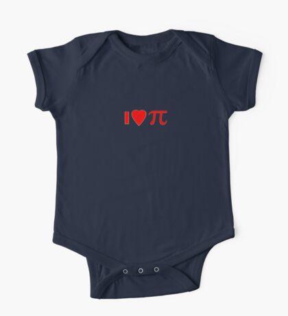 I Love Apple Pie T-shirt Pi Heart Maths Tee One Piece - Short Sleeve