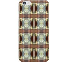 Brown And Blue Pattern iPhone Case/Skin