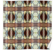 Brown And Blue Pattern Poster