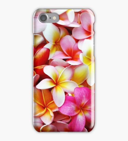 Plumeria Pink White Frangipani Tropical Hawaiian Flower Floral Fine Art iPhone Case/Skin