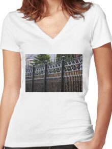 FENCE Women's Fitted V-Neck T-Shirt