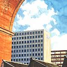 Manchester - Regent House and Viaduct, Stockport by exvista