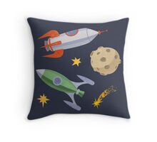 Retro spaceships Throw Pillow