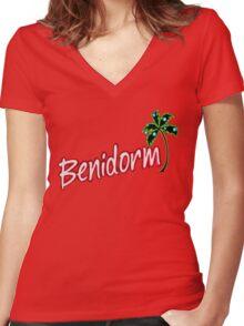 BENIDORM LOGO FROM POPULAR TV SERIES CULT BRITISH TV Women's Fitted V-Neck T-Shirt
