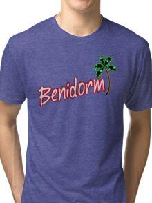 BENIDORM LOGO FROM POPULAR TV SERIES CULT BRITISH TV Tri-blend T-Shirt