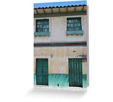 Green Windows and Doors Greeting Card
