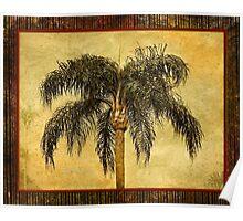 Tropical Retro Palm Tree Vintage Hawaiian Palms Poster