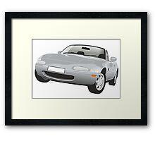 Mazda MX-5 Miata silver Framed Print