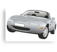 Mazda MX-5 Miata silver Canvas Print