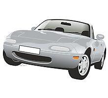 Mazda MX-5 Miata silver Photographic Print