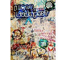 Graffiti Szimpla I Love Budapest Photographic Print
