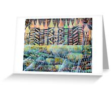 Wish Falls Birthday Candles Greeting Card