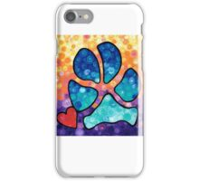 Puppy Love - Colorful Dog Paw Art By Sharon Cummings iPhone Case/Skin